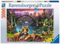 Ravensburger Puzzle 3000 Teile Tiger in paradiesischer Lagune