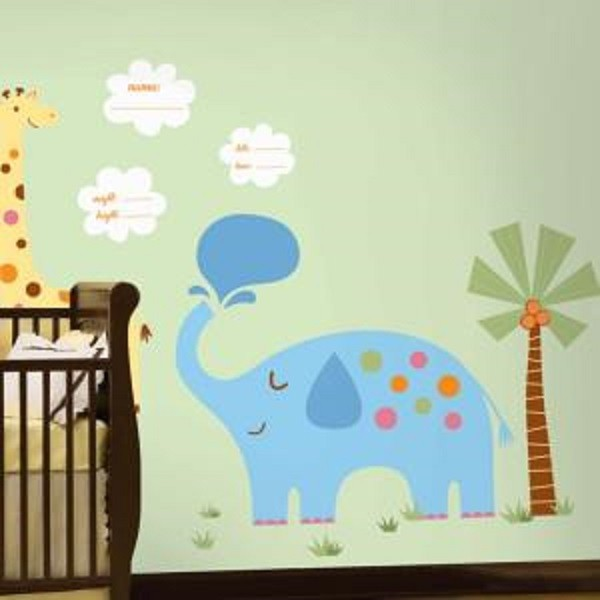 ROOM MATES Wandsticker XXL Wilde Tiere New Baby