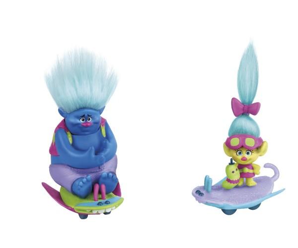 Hasbro Spielset Trollstadt Trolls mit Käferboards