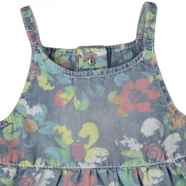 Bóboli Mädchen Jeans-Kleid Allover-Blumenprint Gr. 74 - 92