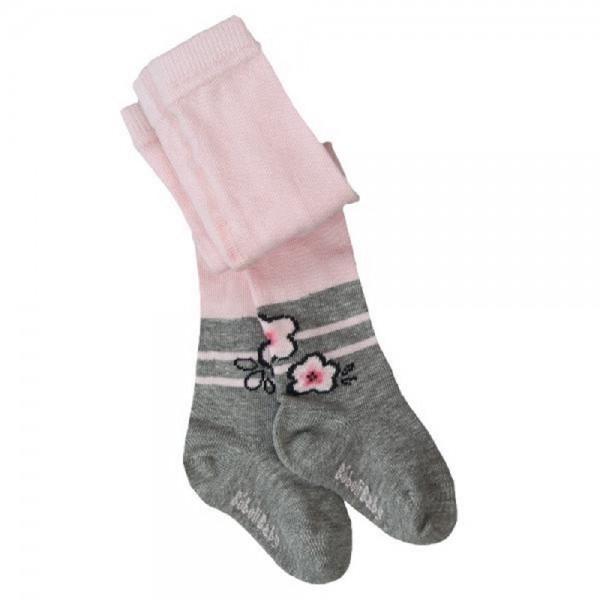 Bóboli Mädchen Strumpfhose rosa grau Gr. 74 - 92