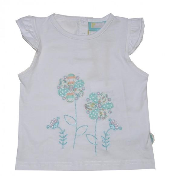 Paglie Mädchen T-Shirt mit Blumendruck weiß Gr. 68-98