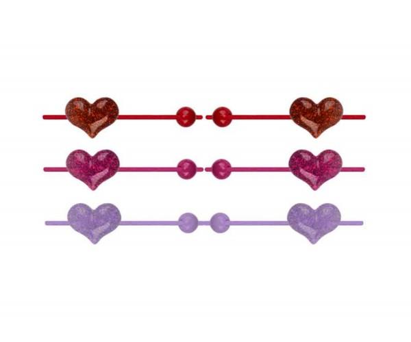 Mädchen Haargummi mit Herz 2er Set