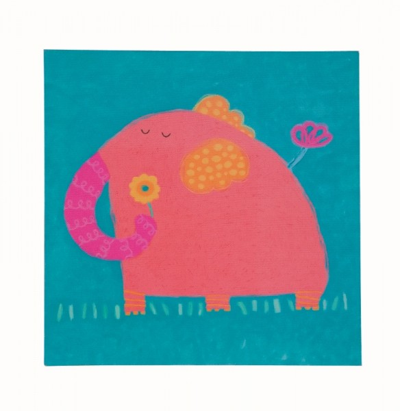 TRÄ PRESENT Kinderzimmer Bild Elefant 28 x 28 cm