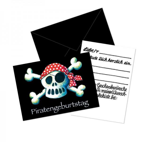 LUTZ MAUDER Kindergeburtstag Geschenkekisten-Karte Piratenkopf