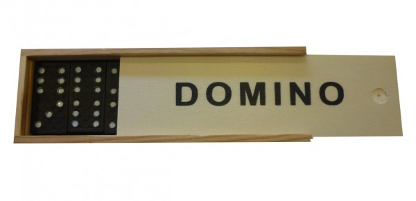 Domino Legespiel in Holzbox