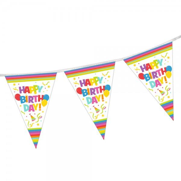 Kindergeburtstag Deko Wimpelkette Happy Birthday