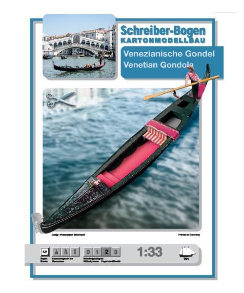 Schreiber-Bogen Kartonmodellbau Venezianische Gondel