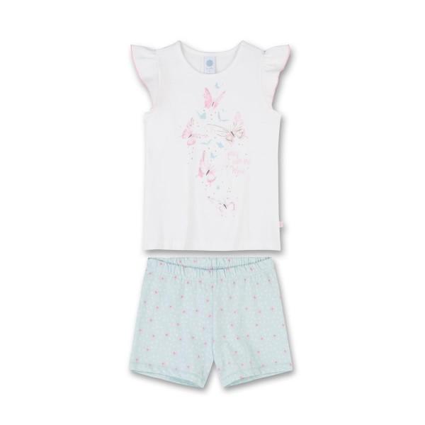 Sanetta Mädchen Pyjama Shorty Schmetterlinge Gr. 92 - 140