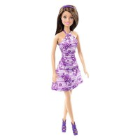 Mattel Barbie Life in the Dreamhouse Violett mit Blumenkleid und Haarreif