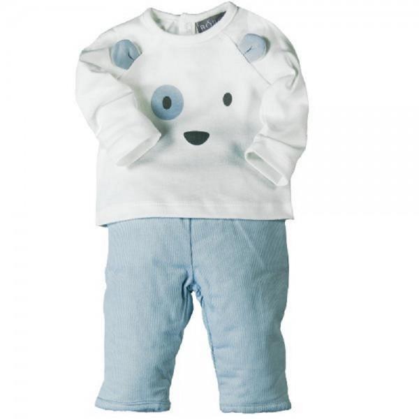 Bóboli Jungen Baby-Set Bär mit Langarmshirt und Hose Gr. 50 - 86