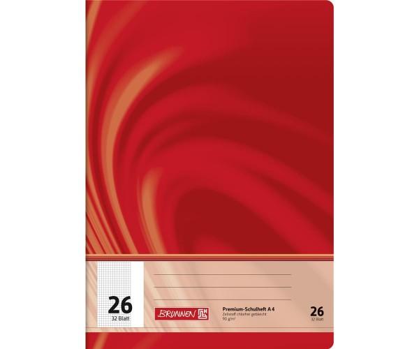 Schulheft A4 kariert Lineatur 26 (32 Blatt)