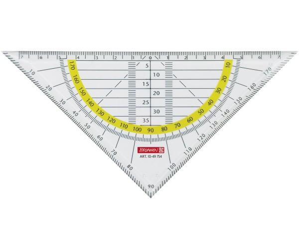 Geometrie-Dreieck 16 cm glasklar