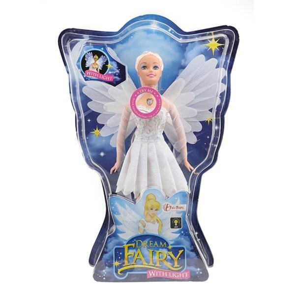 Dream Fairy Spielpuppe Fee weiß 30cm mit Licht