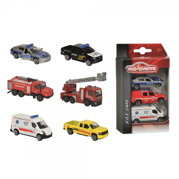 Majorette SOS Fahrzeuge 3er Pack