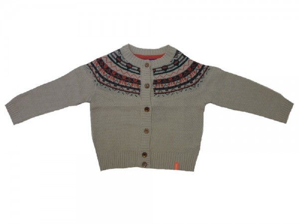 MEXX - Kinder Strickjacke light grey heat Gr. 74 - 92