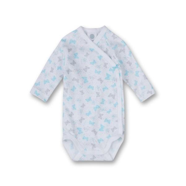 Sanetta Baby Wickelbody Organic Cotton Schmetterlinge weiß Langarm