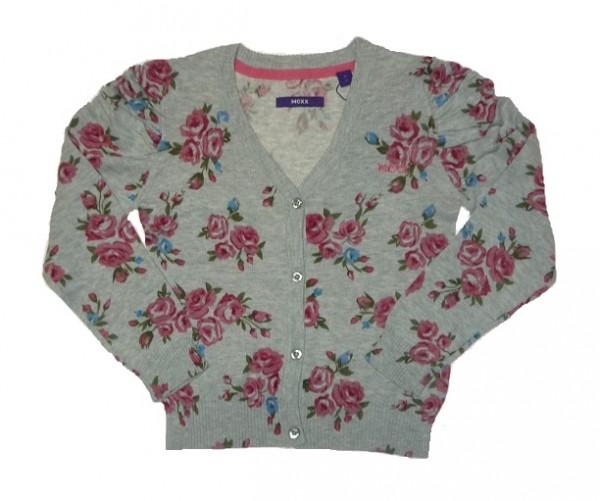MEXX - Kinder Strickjacke Blumenprint für Mädchen Gr. 110 - 128
