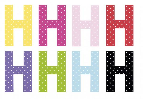 JaBaDaBaDo Kinderzimmer Buchstabe H (Farbauswahl)