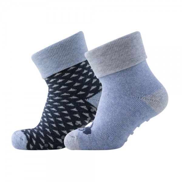 Melton Jungen Baby 2er Pack Socken dark denim