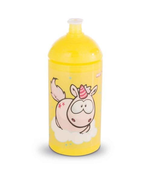 Nici Kinder Trinkflasche Einhorn Theodor gelb