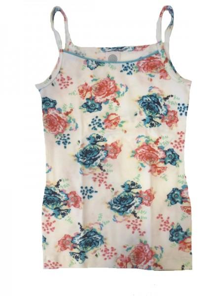 SANETTA Mädchen Unterhemd Blumenprint