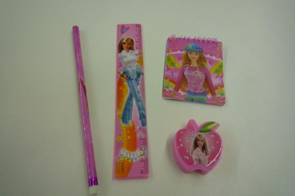 Schreibset Apple Girl rosa / blau