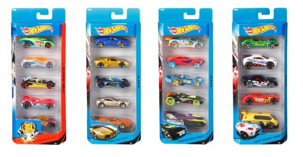Mattel Hot Wheels 5er Geschenkset