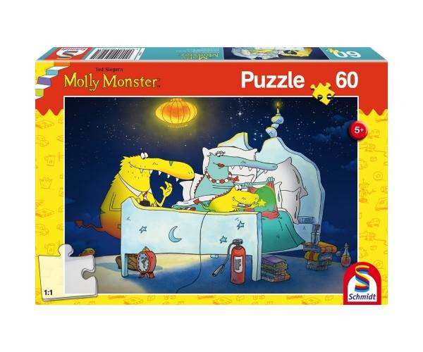 Schmidt Spiele Kinder Puzzle 60 T. Molly Monster und Geschwisterchen