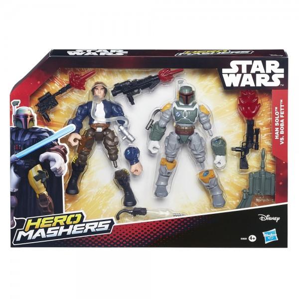 Hasbro Star Wars Hero Mashers Han Solo vs. Boba Fett