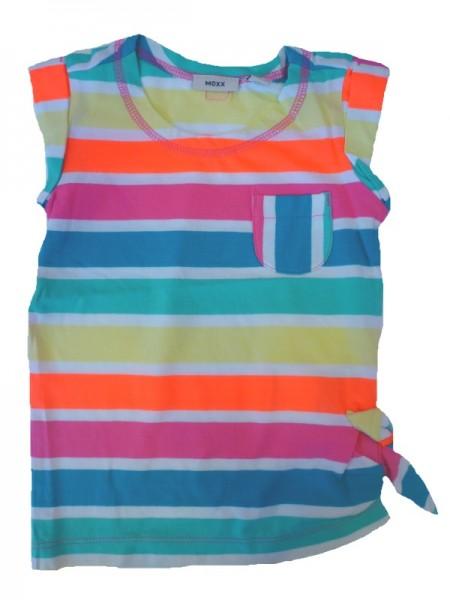 MEXX Mädchen T-Shirt fandango pink gestreift Gr. 98 - 152