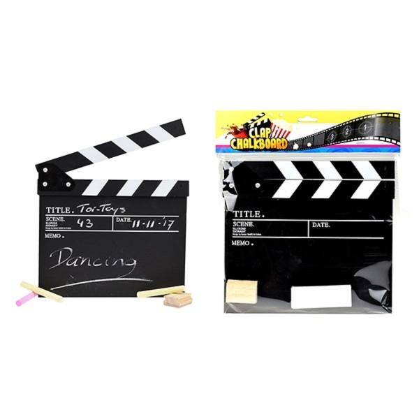 Toi-Toys Filmklappe mit Kreide und Bürste