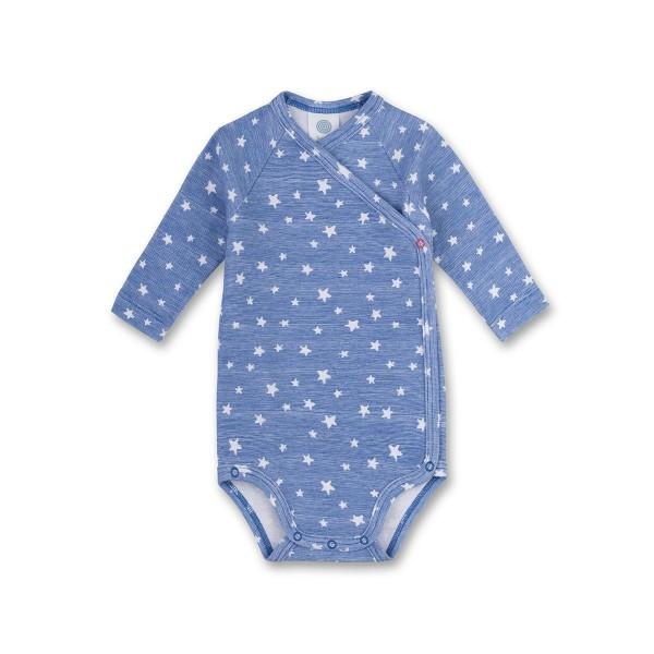 Sanetta Baby Langarm Wickelbody Sterne blau