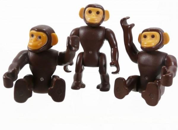 Playmobil Schimpansen Rudel 2 groß, 2 klein