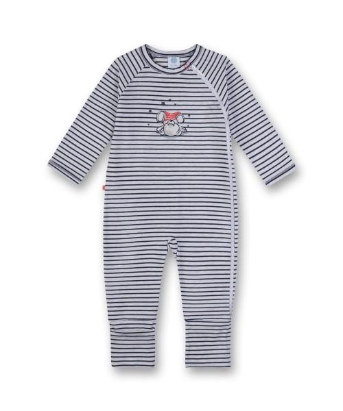 Sanetta Jungen Baby Schlafstrampler Langarm Bär gestreift Gr. 56 - 92
