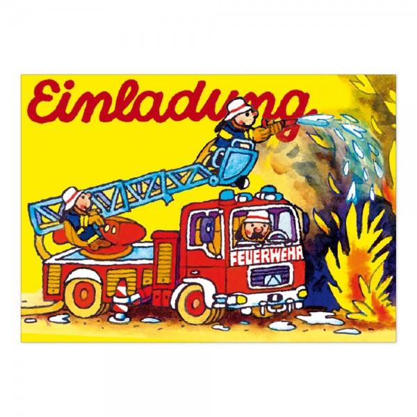 LUTZ MAUDER Kindergeburtstag Einladungskarte Feuerwehr