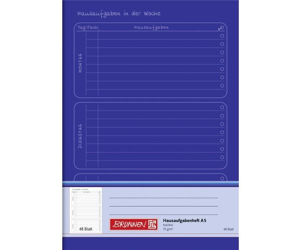 Hausaufgabenheft A5 48 Blatt