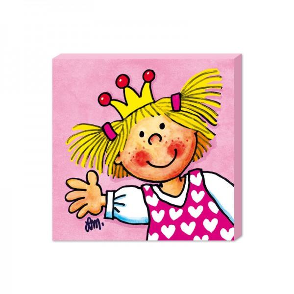 LUTZ MAUDER Kinderzimmer Bild Prinzessin 25 x 25 cm