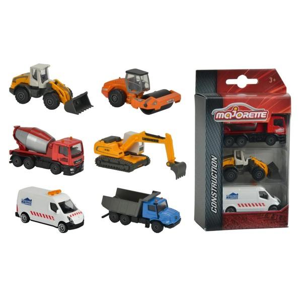 Majorette Baustellen-Fahrzeuge Construction 3er Pack