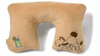 Nici Aufblasbares Nackenkissen mit Plüschhülle Kamel beige