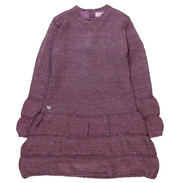 Bóboli festliches Mädchen Strick-Kleid pflaume Gr. 92 - 128