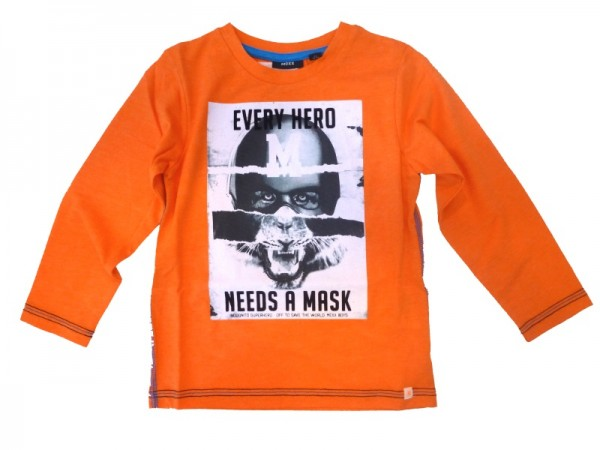 MEXX Jungen Kinder Langarmshirt vibrant orange Gr. 98 - 152