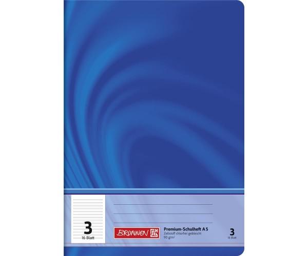 Schulheft A5 liniert Lineatur 3 (16 Blatt)