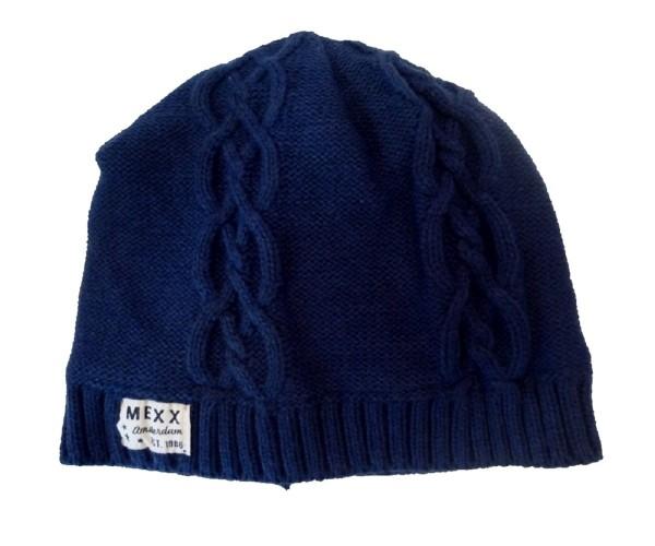MEXX Mädchen Strick- Mütze dress blues