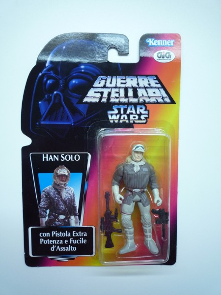 HASBRO Star Wars Hist. Figur Han Solo auf Hoth Ital. Karte