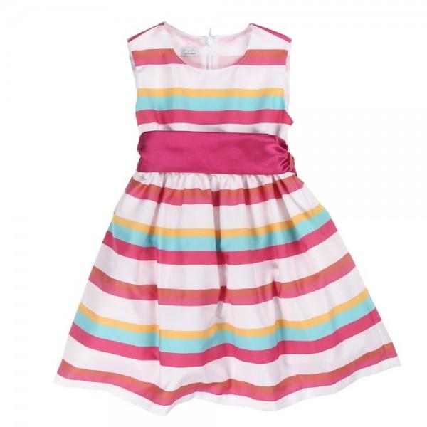 Königsmühle - Mädchen festliches Kleid ohne Arm gestreift Gr. 92 - 116