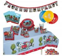 TIB Heyne Party-Set Feuerwehr Party-Koffer 60-teilig (2.WAHL)