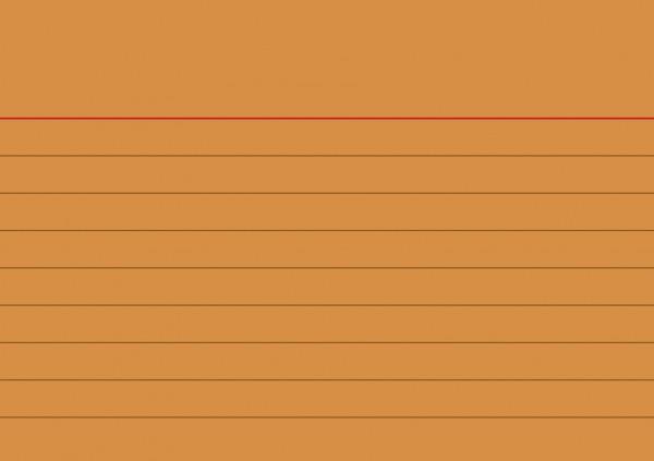 Karteikarten liniert A7 orange
