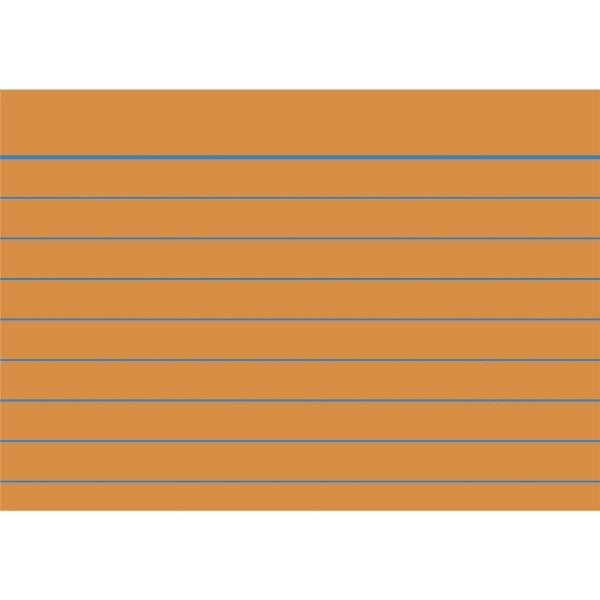 Karteikarten liniert A8 orange