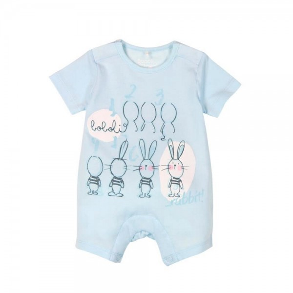 Bóboli Baby Spieler Hasen blau Gr. 56 - 92